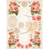 LemonCraft - Vintage Time Decorative Paper - Tags and Cut Aparts - Sense And Sensibility 038 (LP-VT038)
