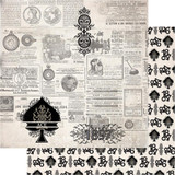 "Couture Creations - Gentleman's Emporium - Double-Sided Paper 12""X12"" - No6 (CO726819)"