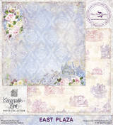 Blue Fern Studios - Courtship Lane 12x12 dbl sided paper - East Plaza (111679)