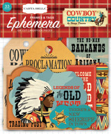 Carta Bella - Ephemera- 33/Pkg - Cowboy Country - Home On The Range - (752830108127)