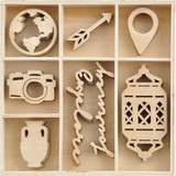 Kaisercraft - Flourish Wooden Pack - Journey - 40/pkg (FL651)