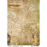 Ciao Bella - Decoupage Rice Paper Sheet - Voyages Extradionaires - Nautilus (CBRP042)