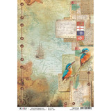 Ciao Bella - Decoupage Rice Paper Sheet - Repubbliche Marinare Collection - Diaro Di Bordo (CBRP029) (CBRP029)