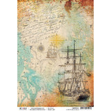 Ciao Bella - Decoupage Rice Paper Sheet - Repubbliche Marinare Collection - La Rotta (CBRP031)