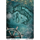 Ciao Bella - Decoupage Rice Paper Sheet - Repubbliche Marinare Collection - Mediterraneo (CBRP032)