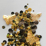 Spiegel Mom Scraps - Sequins - Sunflower Flight (SMS - SUNFLWRFLT)