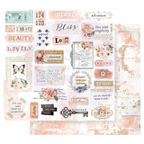 Prima Marketing - Double sided 12x12 Paper w/Foil Accents - Apricot Honey - Deep Love (APIC12 49184)