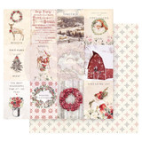 Prima Marketing CITC12-95256 Christmas In The Country Double-Sided Cardstock 12X12-Northern Regions