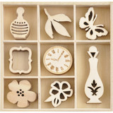 Kaisercraft - Flourish Wooden Pack - Antiquities - 40/pkg (FL648)