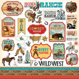 "Carta Bella - Element Sticker 12""x12""- Cowboy Country (CC77014)"