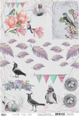 13@rts - Cardstock Element Sheet - On The Wall - Birds (ARTOW09)