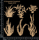 Scrapaholics - Laser Cut Chipboard - Sea Foliage 1 (S50725)
