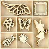 Kaisercraft - Flourish Wooden Pack - Make A Wish - 35/pkg (FL620)
