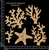 Scrapaholics - Laser Cut Chipboard - Coral Pieces #2 (S51869)