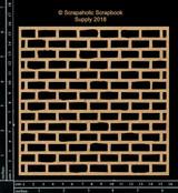 Scrapaholics - Laser Cut Chipboard - Brick Wall Panel (S49484)