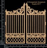 Scrapaholics - Laser Cut Chipboard - Garden Gate (S49613)