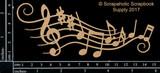 Scrapaholics - Laser Cut Chipboard - Music Flourish (S50848)