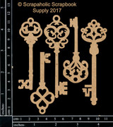 Scrapaholics - Laser Cut Chipboard - Skeleton Keys (S50213)