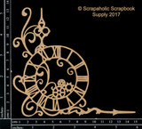 Scrapaholics - Laser Cut Chipboard - Steampunk Clock Corner (S49965)
