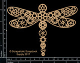 Scrapaholics - Laser Cut Chipboard - Steampunk Dragonfly (S50510)
