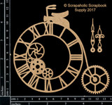 Scrapaholics - Laser Cut Chipboard - Steampunk Penny Farthing (S50503 )