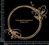 Scrapaholics - Laser Cut Chipboard - Vine Flourish Frame (S50244)