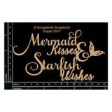Scrapaholics - Laser Cut Chipboard - Mermaid Kisses (S49286)