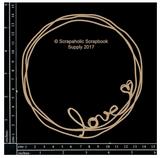 Scrapaholics - Laser Cut Chipboard - Love Doodle Frame (S50916)