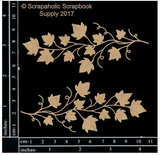 Scrapaholics - Laser Cut Chipboard - Ivy Vine Spray (S51289)