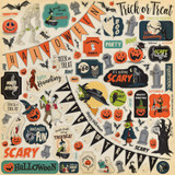 Carta Bella - Element Sticker 12x12 - Happy Halloween (CBHAL104014)