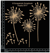 Scrapaholics - Laser Cut Chipboard - Dandelions (S51746)