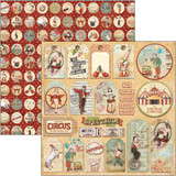 Ciao Bella - Double-Sided Cardstock 12x12 - Greatest Show - Circus Tags (CBSS089)