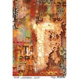 Ciao Bella - Decoupage Rice Paper- Collateral Rust - Oxide (CBRP073)