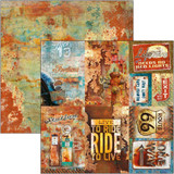 Ciao Bella - Double-Sided Cardstock 12x12 - Collateral Rust - Rusted Cards (CBSS086)