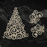 Coutrue Creations - Laser Cut Chipboard - Swirling Christmas Tree (CO727147)
