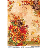 Ciao Bella - Decoupage Rice Paper Sheet - Sound of Autumn - All At Once ( CBRP057)