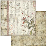 Stamperia - Double-Sided Cardstock 12x12 - Oriental Garden - Oriental Poems (SBB632)
