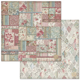 Stamperia - Double-Sided Cardstock 12x12 - Grand Hotel - Patchwork Wallpaper (SBB649)