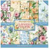 "Stamperia - Double-Sided Paper Pad 8""X8"" 10/Pkg - Flowers For You (SBBS05)"
