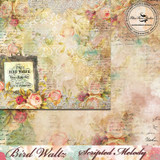 Blue Fern Studios - Bird Waltz - 12x12 dbl sided paper - Scripted Melody (690677)