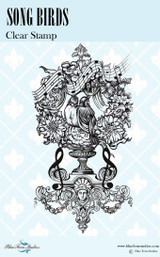 Blue Fern Studios - Bird Waltz Collection Clear Stamp - Song Birds (691674)