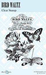 Blue Fern Studios - Bird Waltz Collection Clear Stamp - Bird Waltz (691575)