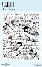 Blue Fern Studios - Bird Waltz Collection Clear Stamp - Allegro (691476)