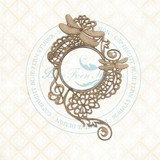 Blue Fern Studios - Chipboard - Bird Waltz - Dragonfly Melody Frame (693470)