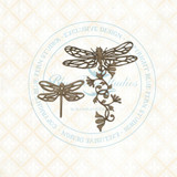 Blue Fern Studios - Chipboard - Bird Waltz - Dragonfly Blossoms (693371)