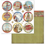 Stamperia - Double-Sided Cardstock 12x12- Make A Wish - Christmas Rounds (SBB637)