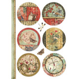 Stamperia - Decoupage Rice Paper A4 - Oriental Garden Collection - Oriental Spheres (DFSA4395)