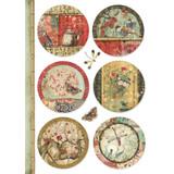 Stamperia - Decoupage Rice Paper A4 - Oriental Garden Collection - Oriental Spheres (DFSA4395)