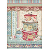Stamperia - Decoupage Rice Paper A4 - Grand Hotel Collection - Hatboxes (DFSA4397)