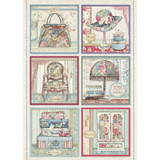 Stamperia - Decoupage Rice Paper A4 - Grand Hotel Collection - Grand Hotel Cards (DFSA4400)